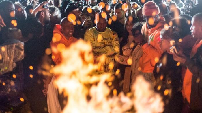 Kanye West campfire